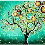 Whimsical Turquoise Tree of..